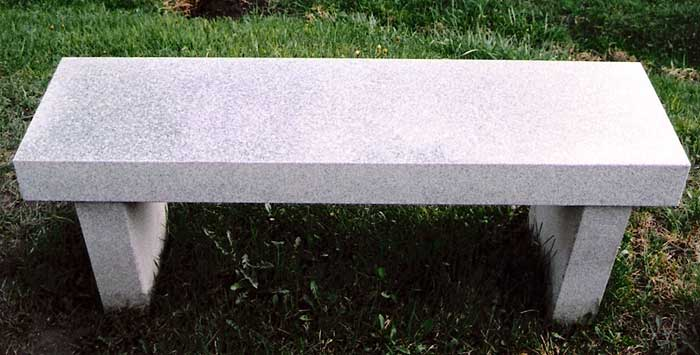 Rectangular Granite Bench