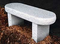 Rounded Granite Bench
