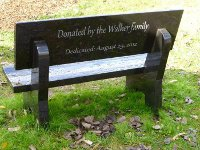 Laser Etched Memorial Bench or Garden Benches